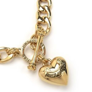 Juicy Couture Gold Heart Toggle Necklace